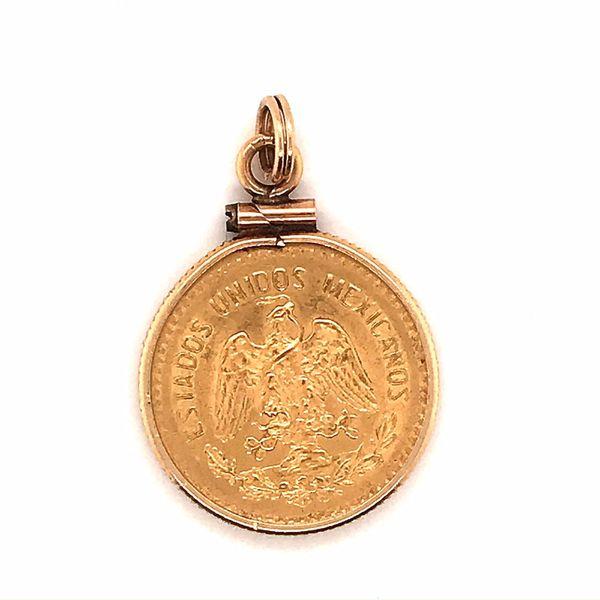14K Yellow Gold 1906 Cinco Peso Charm Mystique Jewelers Alexandria, VA