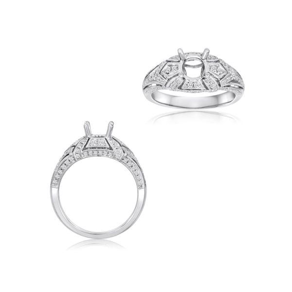Vintage inspired Diamond Ring  Mystique Jewelers Alexandria, VA