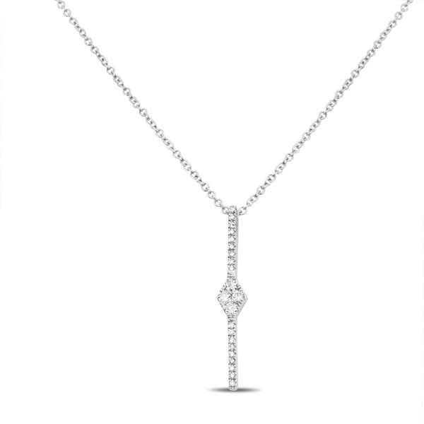 Diamond Pave Bar Drop Necklace  Mystique Jewelers Alexandria, VA