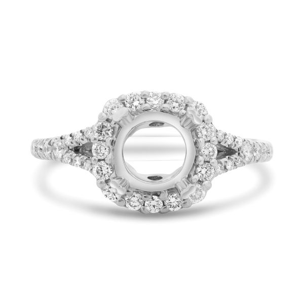 Double Prong Split Shank Engagement Setting Mystique Jewelers Alexandria, VA