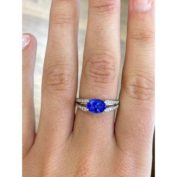 Oval Tanzanite Diamond Ring  Image 2 Mystique Jewelers Alexandria, VA