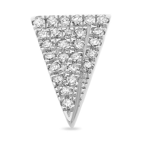 Triangle Post Stud Earrings with Diamonds Image 2 Mystique Jewelers Alexandria, VA