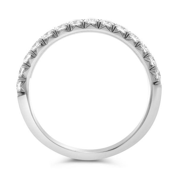 Prong-Set Half Pave Wedding Band  Image 3 Mystique Jewelers Alexandria, VA
