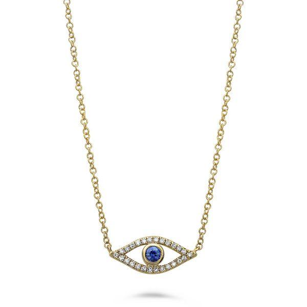 Sapphire and Diamond Evil Eye  Mystique Jewelers Alexandria, VA