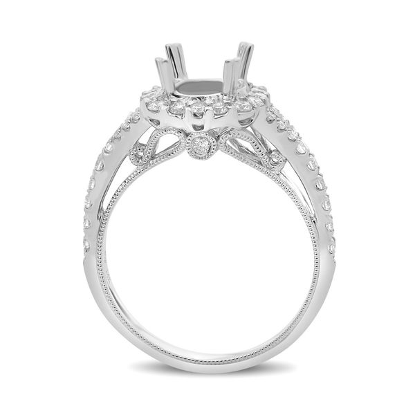 Double Prong Split Shank Engagement Setting Image 2 Mystique Jewelers Alexandria, VA