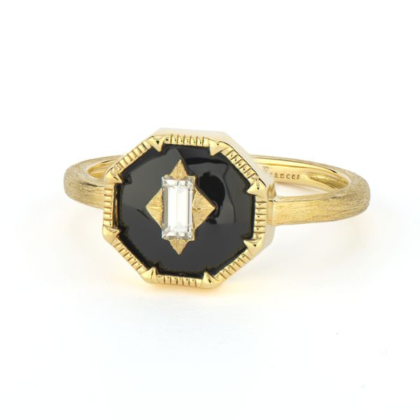 Lisse Ring With Diamond Center Face Mystique Jewelers Alexandria, VA