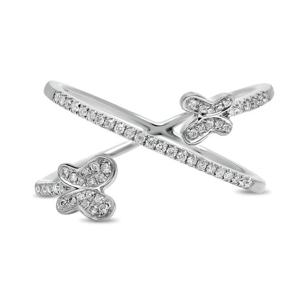 White Gold & Diamond Butterfly Ring  Mystique Jewelers Alexandria, VA