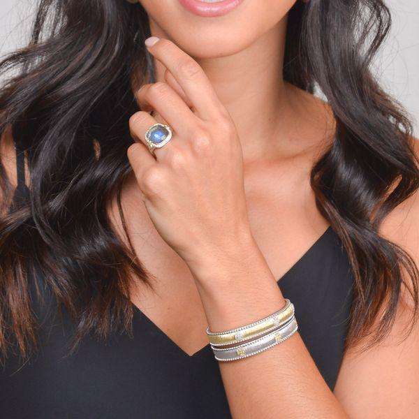 Mixed Metal Narrow Beaded Maltese Cuff Image 2 Mystique Jewelers Alexandria, VA
