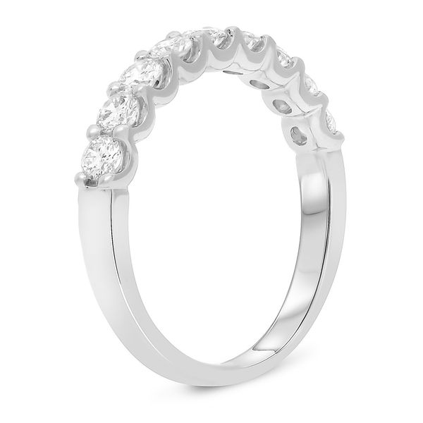 Shared Prong White Gold Diamond Band Image 2 Mystique Jewelers Alexandria, VA