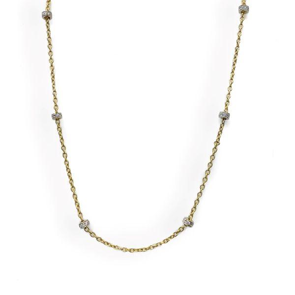 Gold and Diamond Rondells Necklace Mystique Jewelers Alexandria, VA