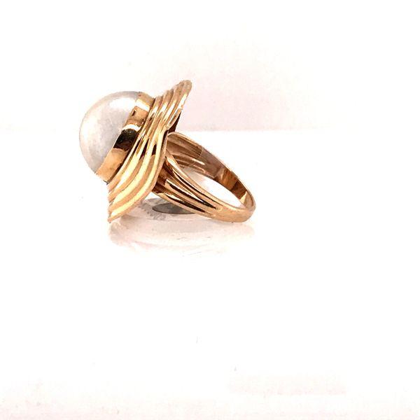Gold & Pearl Ring Image 2 Mystique Jewelers Alexandria, VA