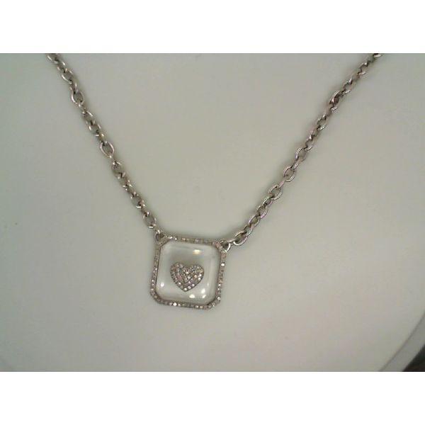 Rock Crystal Pave Heart Necklace Mystique Jewelers Alexandria, VA