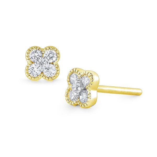 Diamond Flower Earrings Mystique Jewelers Alexandria, VA