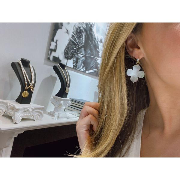 Black Flower Ear Charms Mystique Jewelers Alexandria, VA