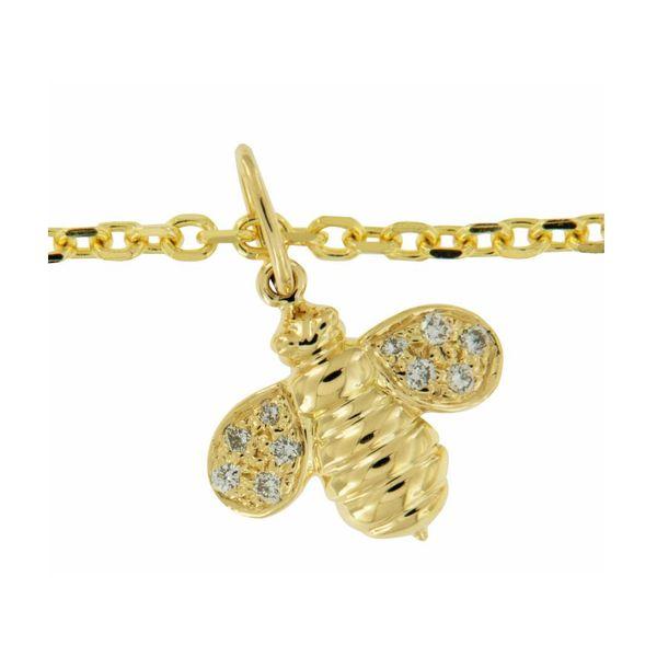 Gumuchian Worker Bee Gold and Diamond Necklace Image 2 Mystique Jewelers Alexandria, VA