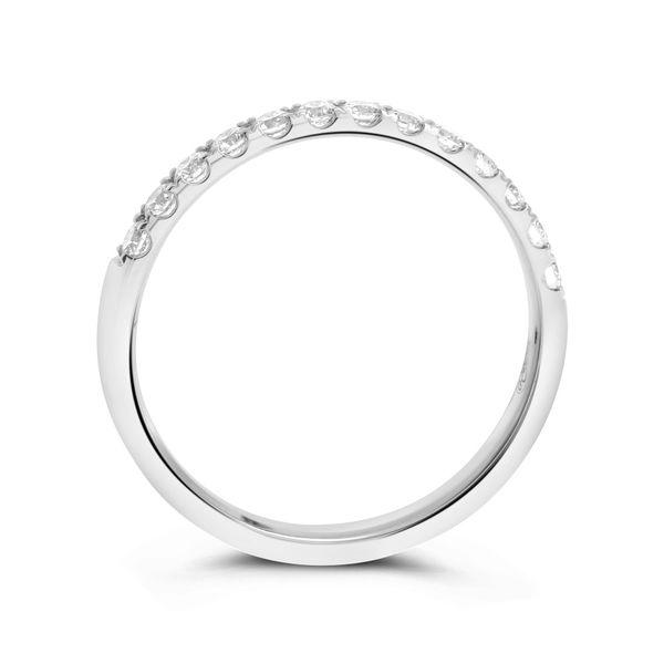 Diamond Half Eternity Band Image 2 Mystique Jewelers Alexandria, VA