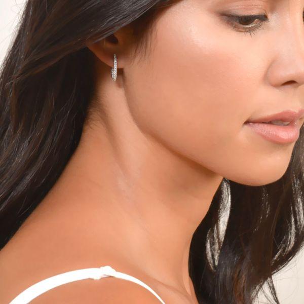 Delicate Small Oval Hoop Earrings Image 2 Mystique Jewelers Alexandria, VA