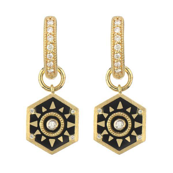 Hexagon Sunray Earring Charm  Mystique Jewelers Alexandria, VA