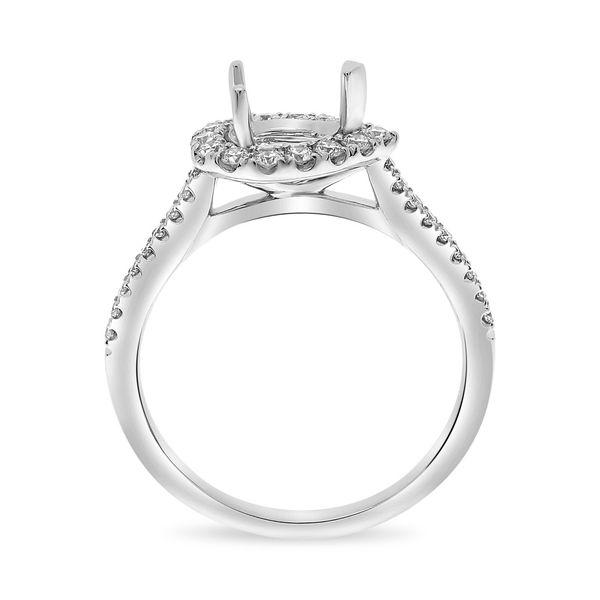 Semi Mount for Horizontal-Set Pear-Shaped Diamond Image 2 Mystique Jewelers Alexandria, VA
