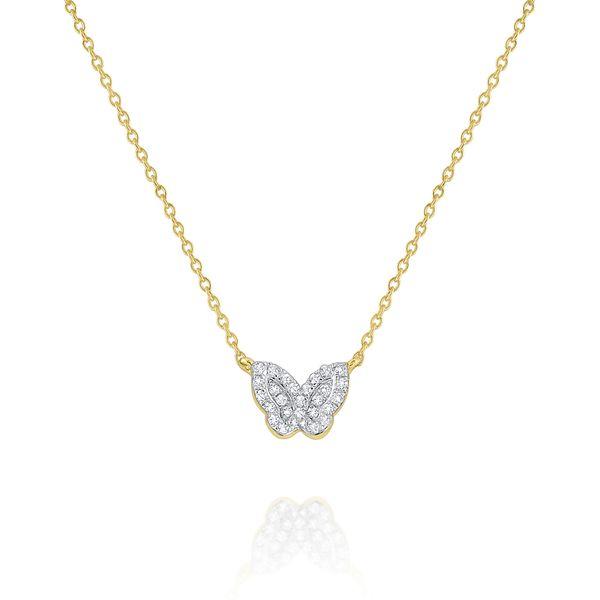 Diamond Butterfly Pendant  Mystique Jewelers Alexandria, VA