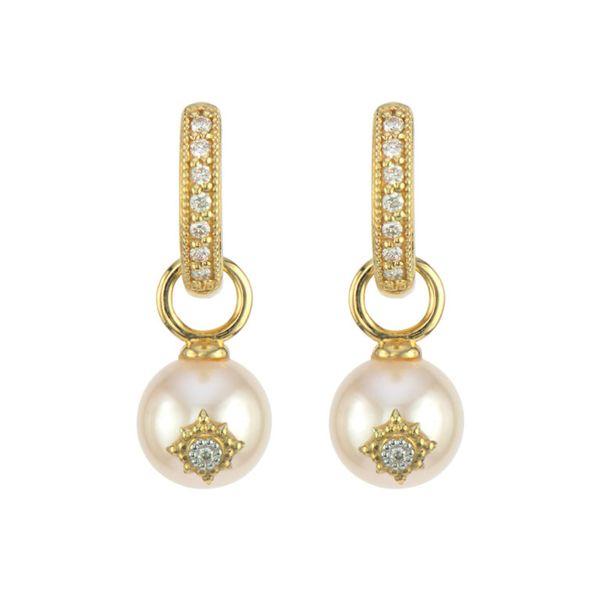 Provence Pearl Earring Charm With Kite Diamond Accent Mystique Jewelers Alexandria, VA