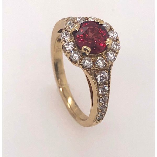 14kt Yellow Gold Red Sapphire Ring Mystique Jewelers Alexandria, VA