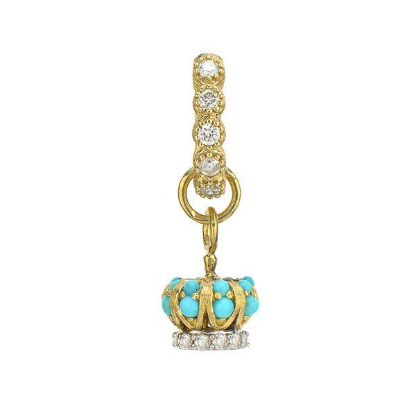 Petite Diamond Crown Charm Mystique Jewelers Alexandria, VA
