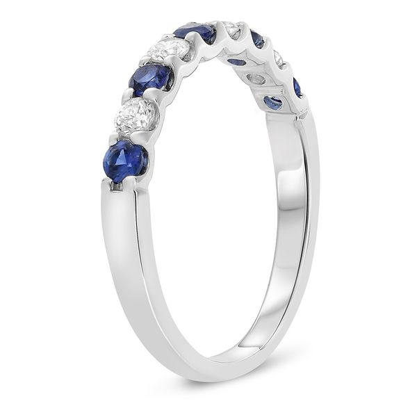Alternating Sapphire & Diamond Band Image 3 Mystique Jewelers Alexandria, VA