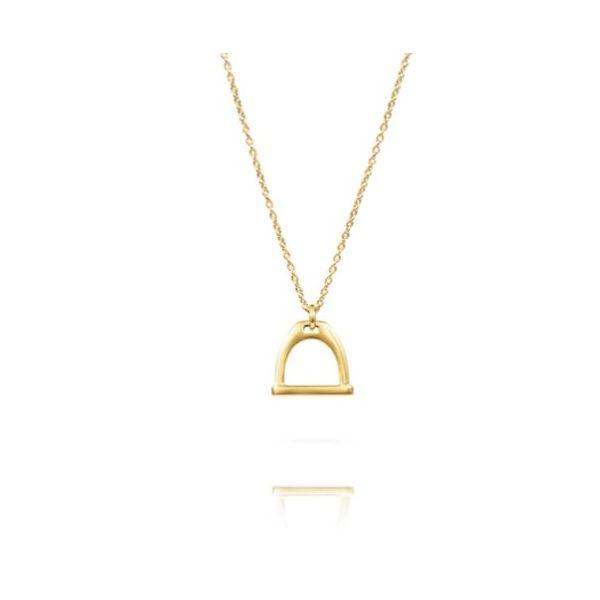 Small Stirrup Bit Charm Necklace | Gold Mystique Jewelers Alexandria, VA