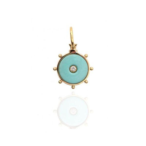 "LAWSON DAHL 18KT GOLD DIAMOND ""FLORENCE"" PENDANT Mystique Jewelers Alexandria, VA"