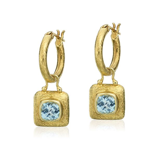 14 Karat Blue Topaz Earring Charm Mystique Jewelers Alexandria, VA