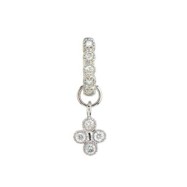 White Gold Petite Diamond Quad Charm Mystique Jewelers Alexandria, VA