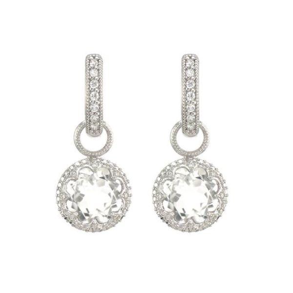 Pave Trio Round Stone Earring Charms Mystique Jewelers Alexandria, VA