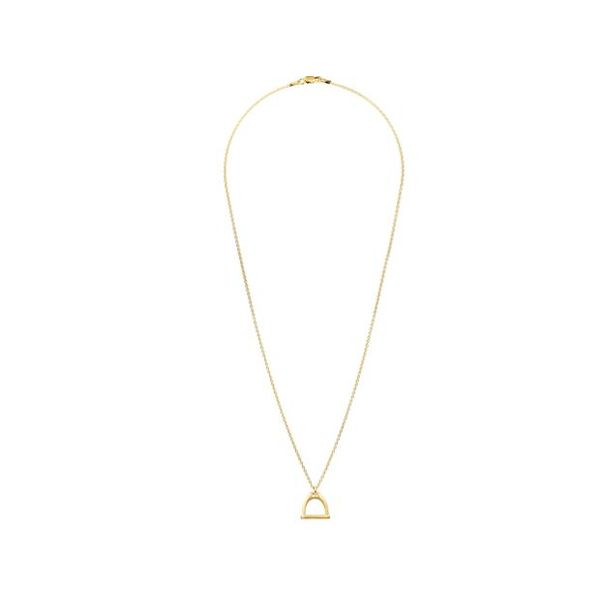 Small Stirrup Bit Charm Necklace | Gold Image 2 Mystique Jewelers Alexandria, VA
