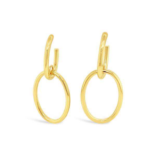 Double Oval Hoop Earrings Mystique Jewelers Alexandria, VA
