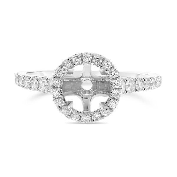 Round Diamond Pave Engagement Setting Mystique Jewelers Alexandria, VA