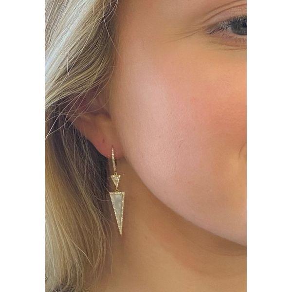 Diamond mother of pear earrings Mystique Jewelers Alexandria, VA