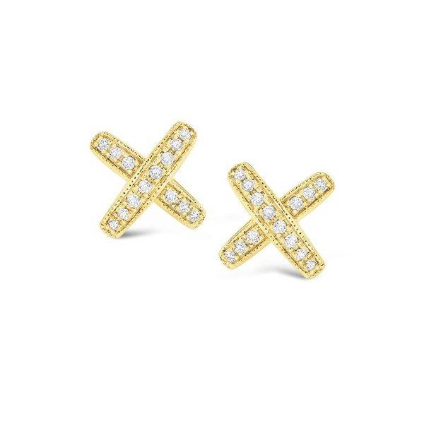 "Diamond ""X"" Earrings Mystique Jewelers Alexandria, VA"