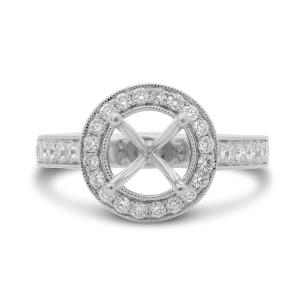 Vintage Inspired Halo Engagement Setting Mystique Jewelers Alexandria, VA