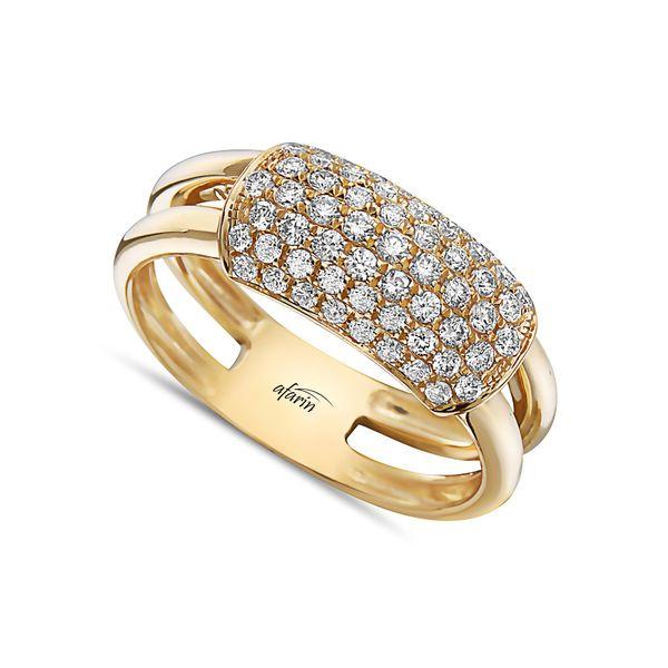 18K DIAMOND SHINY GOLD BAND Mystique Jewelers Alexandria, VA