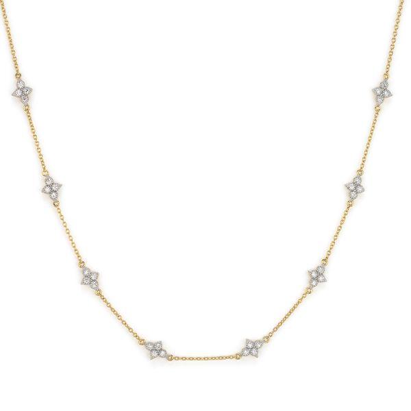 Moroccan Quad Diamond Station Chain Mystique Jewelers Alexandria, VA