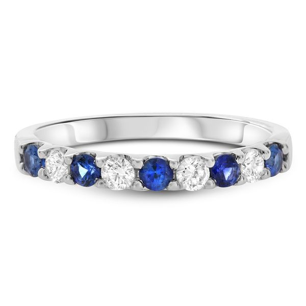 Alternating Sapphire & Diamond Band Mystique Jewelers Alexandria, VA