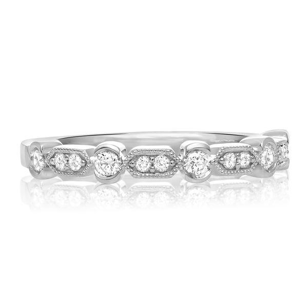 Geometric Milgrain & Diamond Band  Mystique Jewelers Alexandria, VA