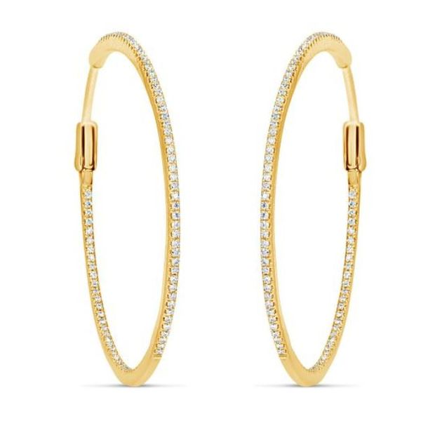 18K Diamond Hoops Mystique Jewelers Alexandria, VA