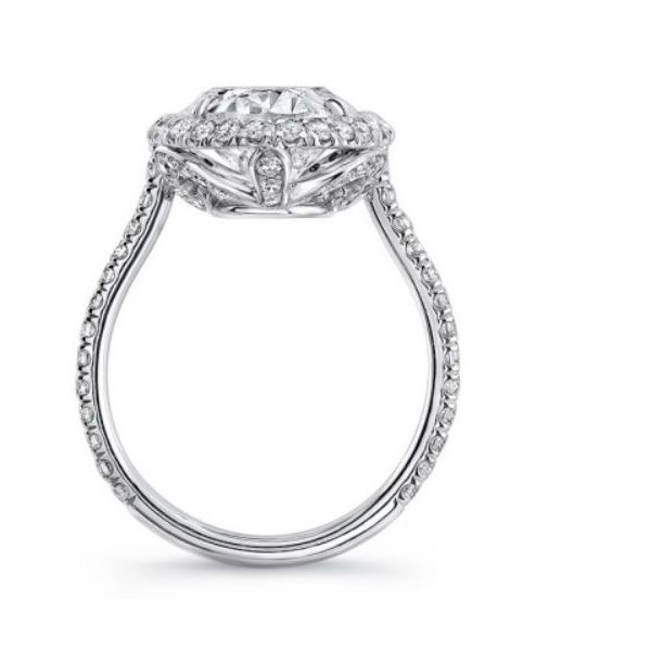 Oval Diamond Halo Ring Image 2 Mystique Jewelers Alexandria, VA