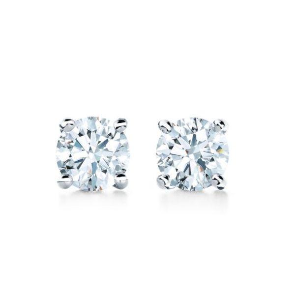 14k White Gold 0.15 Ct Diamond Stud Earrings Mystique Jewelers Alexandria, VA