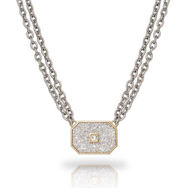 Athena Chain Necklace with Pave and Center Diamond Mystique Jewelers Alexandria, VA
