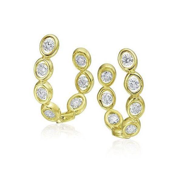 18K Yellow Gold Illusion Hoops Mystique Jewelers Alexandria, VA