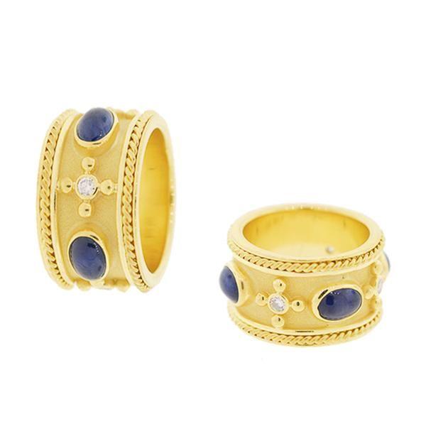 18K Yellow Gold Sapphire Ring Mystique Jewelers Alexandria, VA