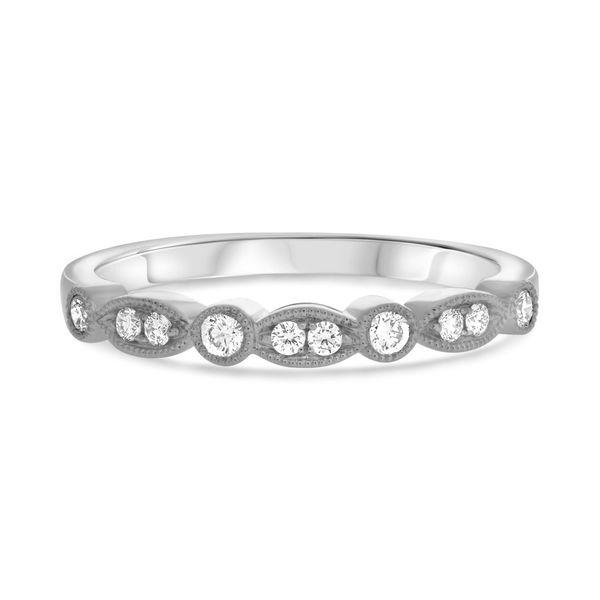 White Gold Milgrain Diamond Band Mystique Jewelers Alexandria, VA